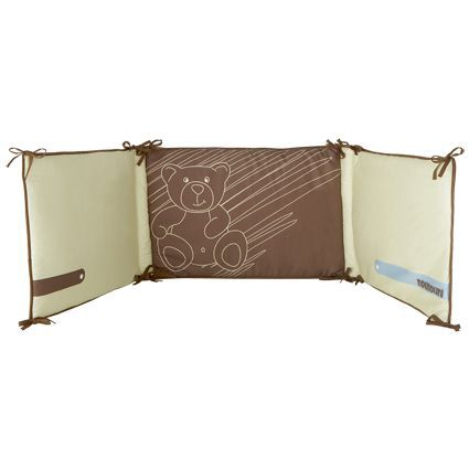 babycalin tour de lit jean bambou vert et marron achat. Black Bedroom Furniture Sets. Home Design Ideas