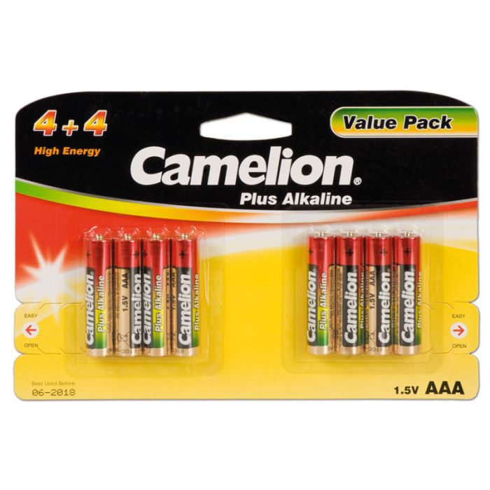 Pack de 8 pile alcaline lr03 micro aaa camelion achat - Pile aaa lr03 ...
