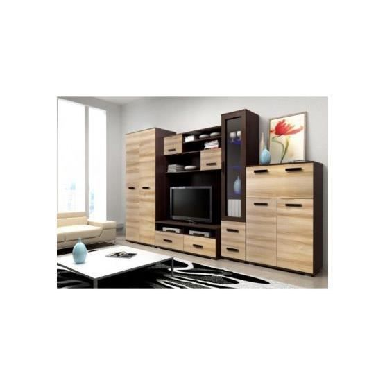 meuble tv design mural orazio bois et wenge achat vente meuble tv meuble tv design mural. Black Bedroom Furniture Sets. Home Design Ideas