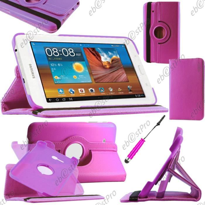 etui rotatif samsung galaxy tab 3 7 0 lite sm t110 violet mini stylet film prix pas cher. Black Bedroom Furniture Sets. Home Design Ideas