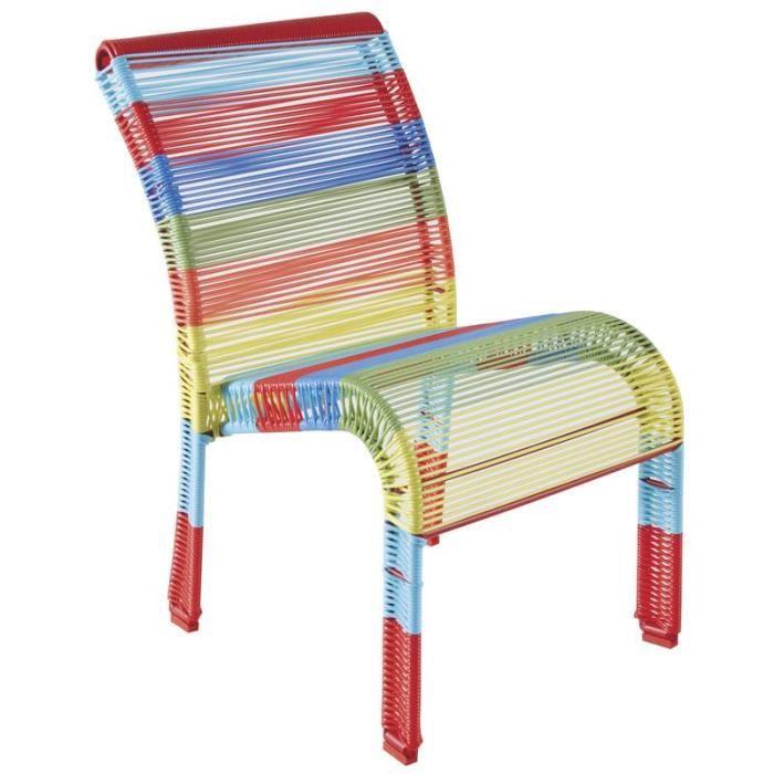 Chaise De Jardin Pour Enfant En Plastique Multicolore