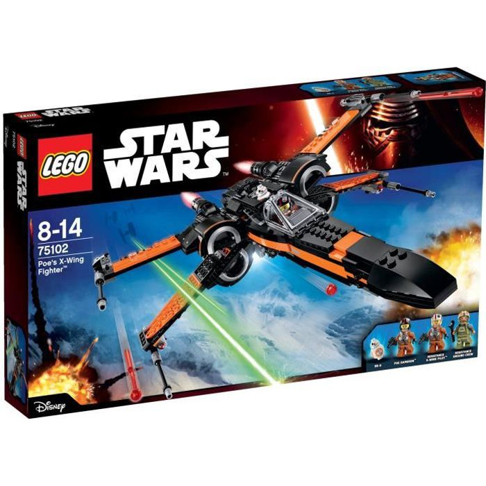 lego star wars 75102 poe 39 s x wing fighter achat vente. Black Bedroom Furniture Sets. Home Design Ideas