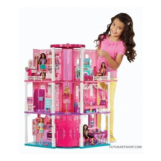 maison de r ve de barbie achat vente maison poupee maison de r ve de barbie cdiscount. Black Bedroom Furniture Sets. Home Design Ideas