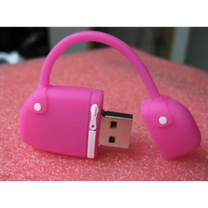 go4u flash drive cl usb 8g motif sac main rose prix pas cher cdiscount. Black Bedroom Furniture Sets. Home Design Ideas