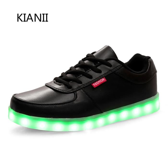 LED chaussures 7 multicolore de recharge USB,lé...