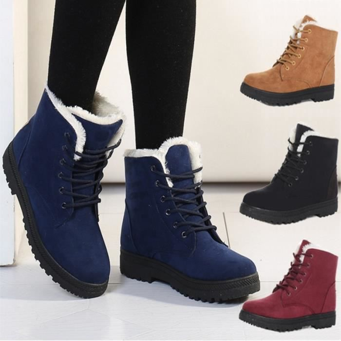 Bottes Bleu 11 Plus Size 34-43 Winter Fashion Lace Up Punk Martin Boot
