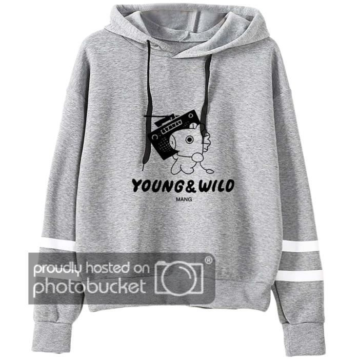 Sweat Shirt Bts Kpop Personnages Mignon Dessin Pull Bangtan Boys