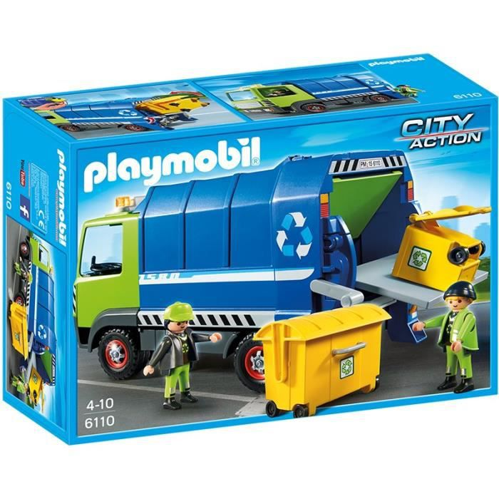 camion poubelle playmobil achat vente jeux et jouets pas chers. Black Bedroom Furniture Sets. Home Design Ideas