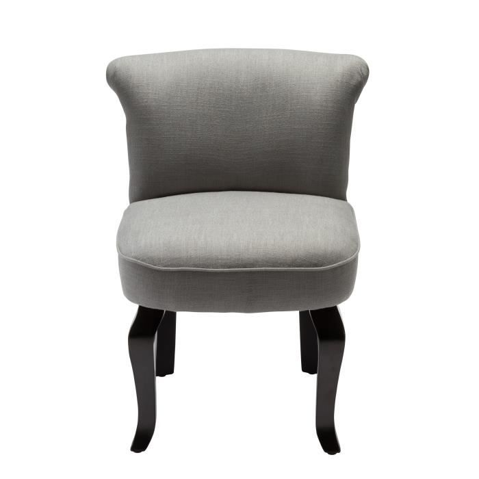 Fauteuil crapaud lin gris clair achat vente fauteuil cdiscount - Fauteuil crapaud gris ...