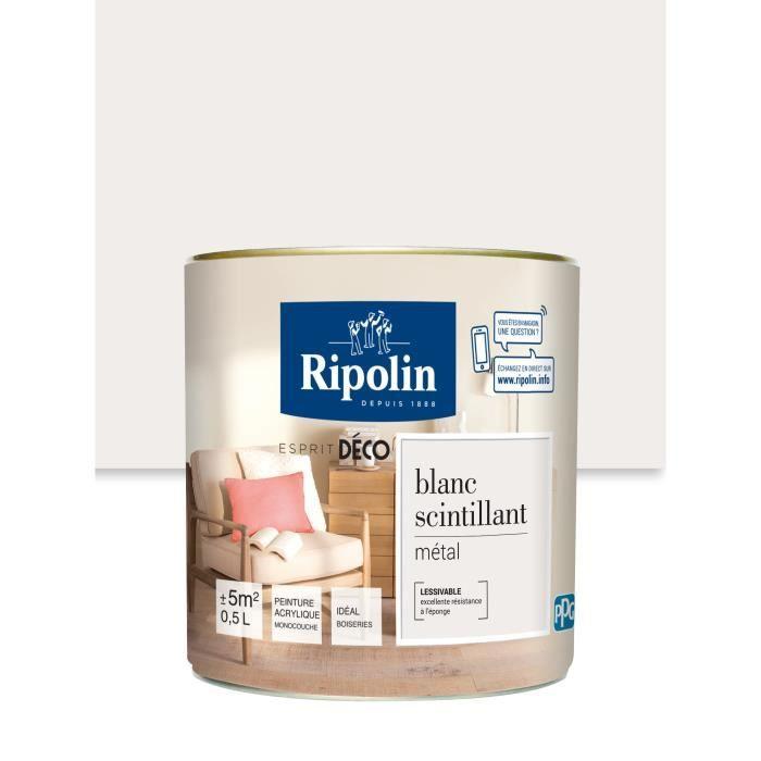 Ripolin Peinture Murale Toutes Pièces Blanc Scintillant Métal 0 5l
