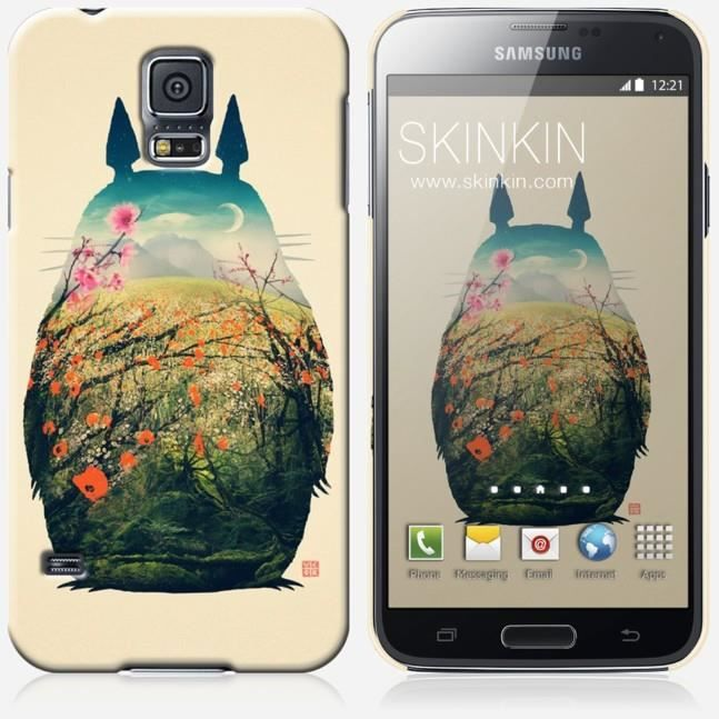 coque samsung galaxy s5 design totoro achat coque. Black Bedroom Furniture Sets. Home Design Ideas