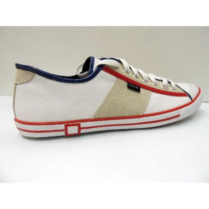 Chaussure Baskets Basse Date Tender Low White Homme Pointure 44