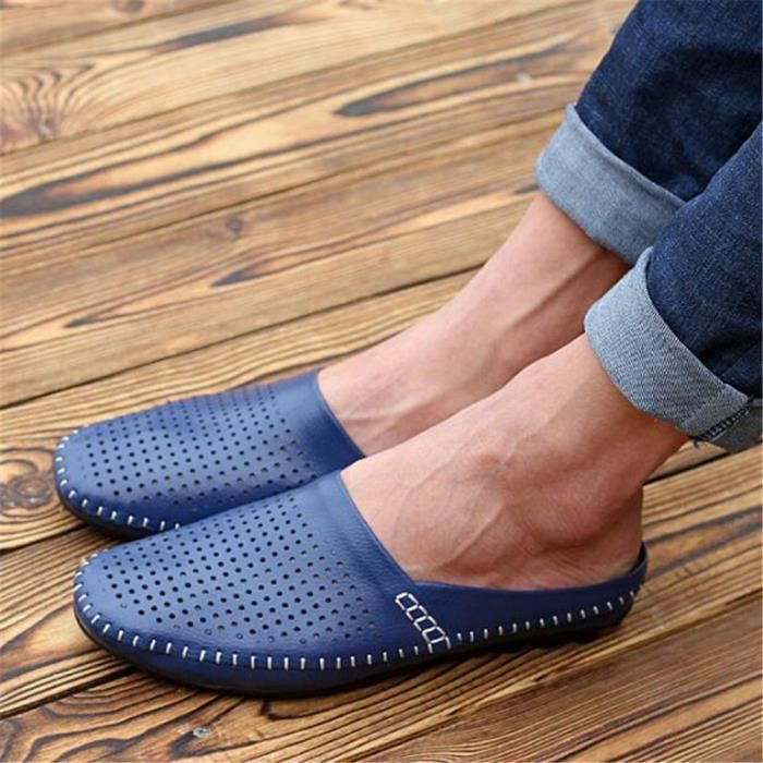 chaussures homme Pantoufle Marque De Luxe Moccasin hommes Loafer Nouvelle Mode 2017 ete chaussure Grande Taille 44