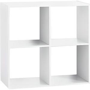 MEUBLE ÉTAGÈRE Etagère 4 cases - L 67,6 x P 32 x H 67,6 cm - Bois