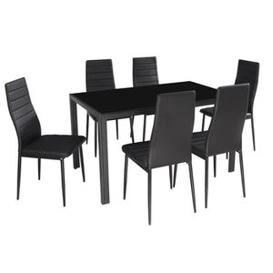 Table salle a manger 6 chaises achat vente table salle Table a manger 6 chaises pas cher