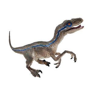 PUZZLE Action Velociraptor Dinosaur bleu Figure animale M