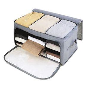 BOITE POUR ALIMENTATION Boîte de Rangement Vetement en Tissu Non-tissés av