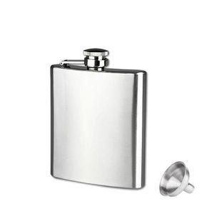 FLASQUE 7 oz en acier inoxydable de poche Flasque Alcool W