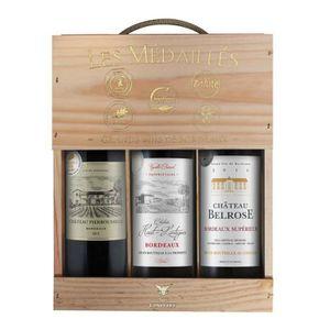 VIN ROUGE Coffret Grands Vins de Bordeaux Les Médaillés AOC