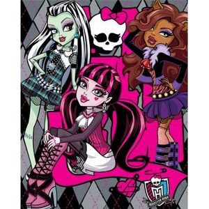 linge de lit monster high achat vente linge de lit monster high pas cher cdiscount. Black Bedroom Furniture Sets. Home Design Ideas