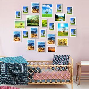 """Nouveau /""""memories/"""" multi photos support famille photos mural cadre blanc cadeau uk"""
