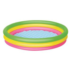 PATAUGEOIRE BESTWAY état Set Above Ground Pool -Piscine Arc en