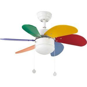 VENTILATEUR DE PLAFOND FARO Ventilateur de plafond Palao multicolore 81cm
