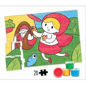 JEU DE PEINTURE EDUCA - malette peinture au doigt - chaperon rouge