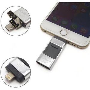 CLÉ USB Clé USB pour iPad / iPhone 64 Go,gris