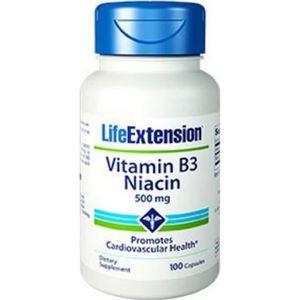 PARTITION Vitamin B3 Niacin 500 Mg - 100 Capsules - Life Ext