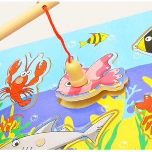 PUZZLE 3D Magnétique Éducatifs De Pêche Puzzles En Bois J