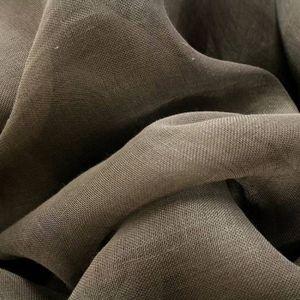 TISSU Tissu Voile de Lin Chocolat - Tissu au mètre - Qua