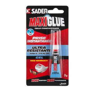 COLLE - PATE FIXATION SADER Maxiglue Colle Instantanée Cyano Tous Usages