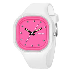 MONTRE Garçon Fille Sports Square Cadran Jelly Couleur Ba