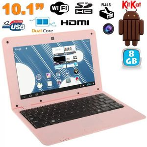 NETBOOK Mini PC Android 4.4 Netbook 10 pouces 8Go Rose