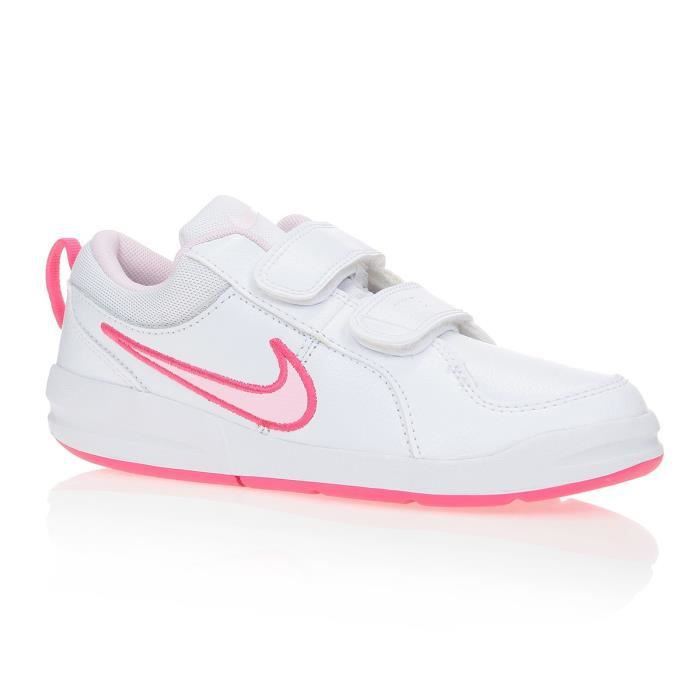 nike baskets pico 4 psv enfant blanc et rose achat. Black Bedroom Furniture Sets. Home Design Ideas