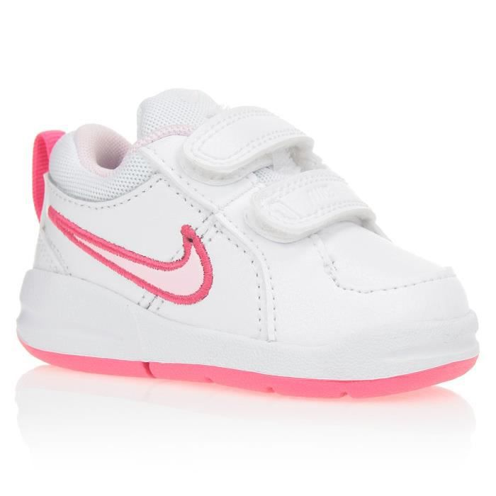 nike baskets pico 4 tdv b b fille blanc et bleu achat vente basket cdiscount. Black Bedroom Furniture Sets. Home Design Ideas