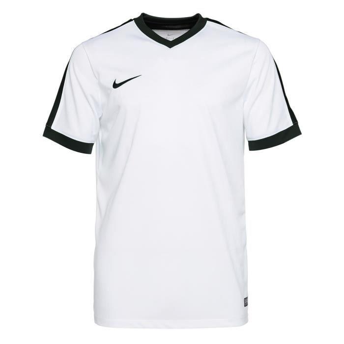 NIKE T-shirt Unisexe Striker IV - Blanc et noir