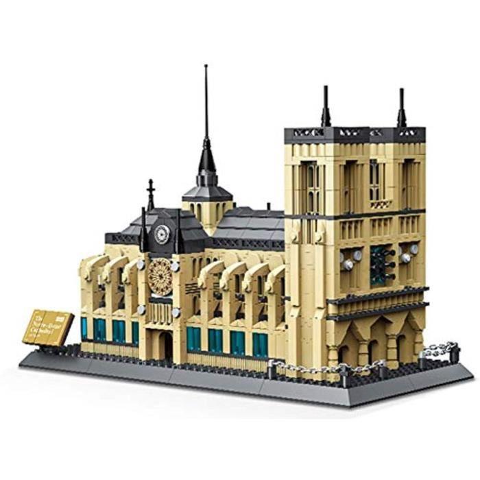 Jeu D'Assemblage U467G Cathédrale Notre-Dame wange de Paris. briques de construction de bâtiment architectural.