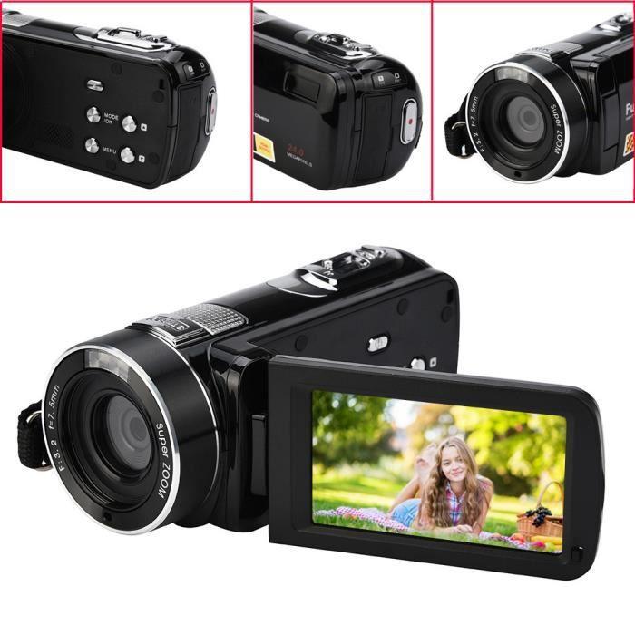 Ansangge ®Infrarouge vision nocturne télécommande à portée de main caméra HD 1080p 24MP 18x Digital BK ZHM71108004BK_4103
