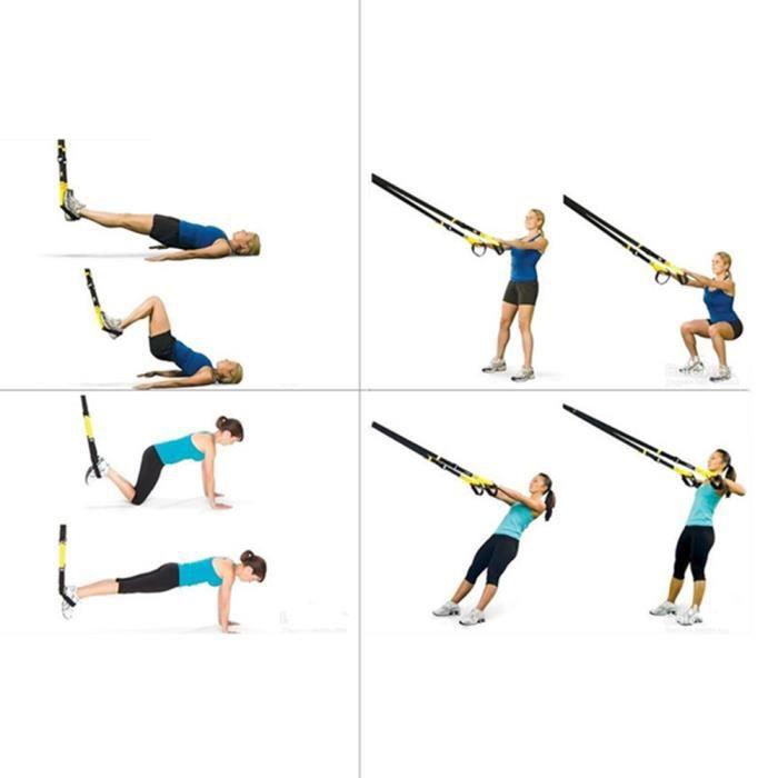 Kit accessoires et sangles trainer matériel musculation, Entraînement musculaire élargisseur