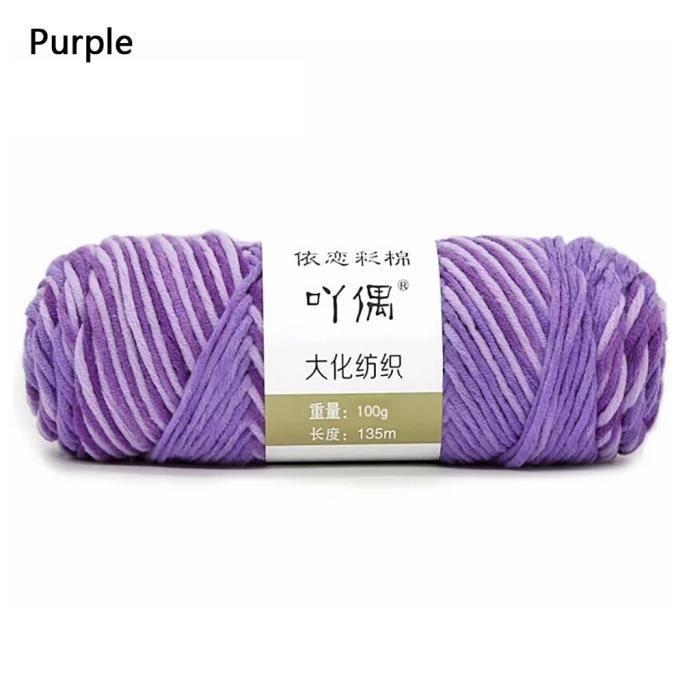 100g barre de fil de coton de lait couture main bricolage écharpe ligne ménage chaud b311