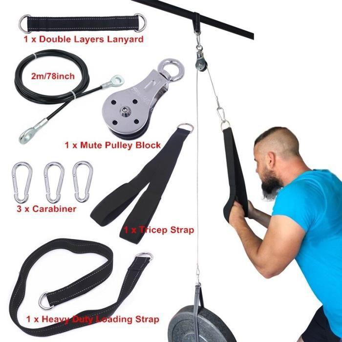 Appareil de musculation à domicile,set pour gym domestique avec câble, pour fitness, crossfit, bodybuilding, travail des [F076903]