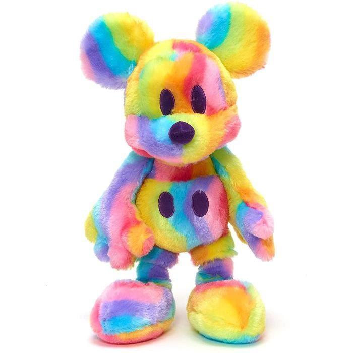 Disney Store Peluche Mickey Mouse Rainbow 38 cm