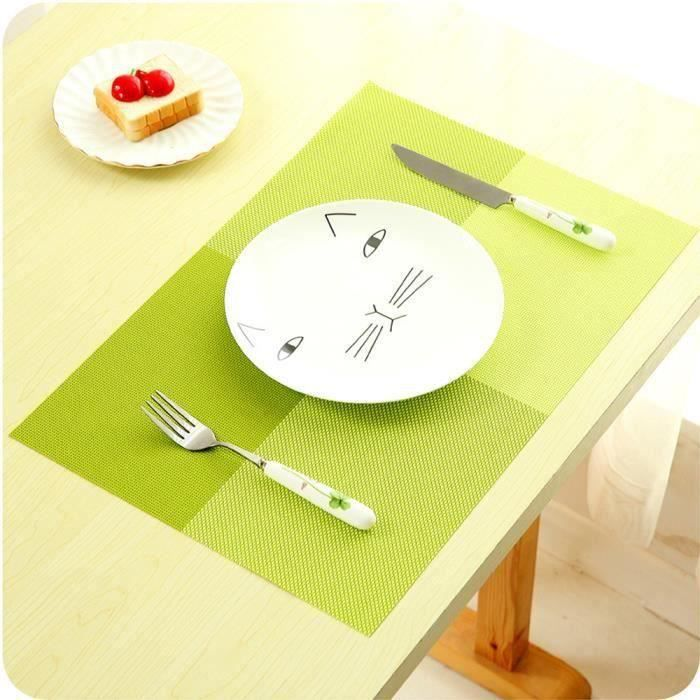 Lot de 8 Sets de table - 45x30 cm - Treillis - Vert