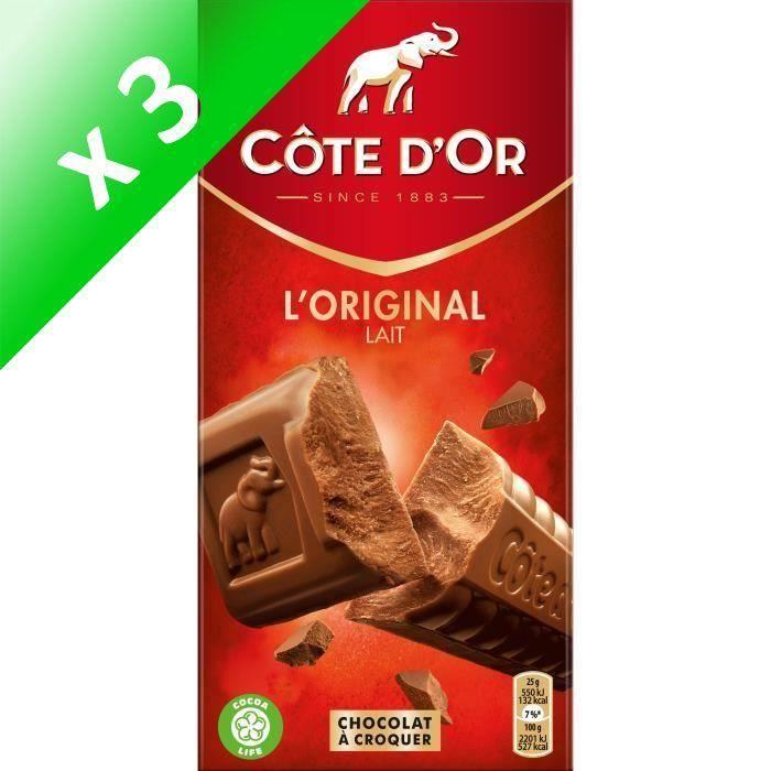 [LOT DE 3] CODE D'OR Chocolat au lait extra-fin - 200 g