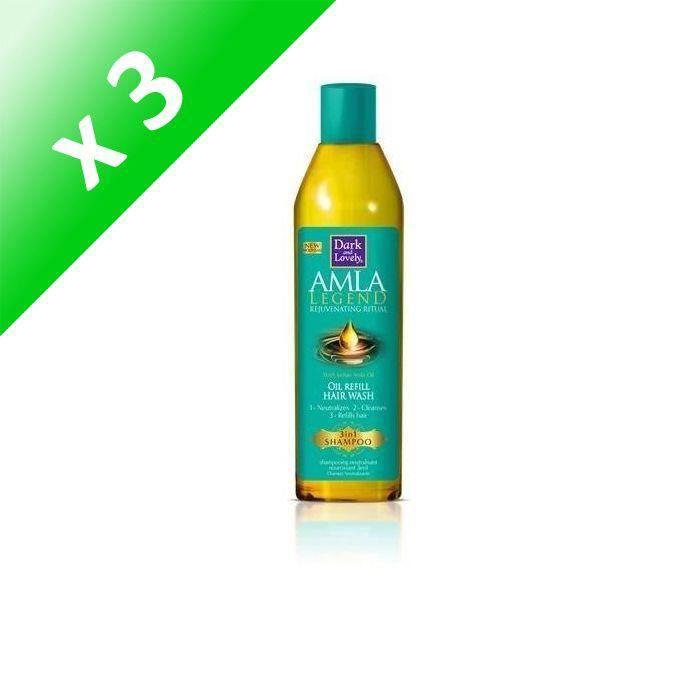 DARK & LOVELY Shampoing Neutralisant 3 en 1 - 250 ml (Lot de 3)