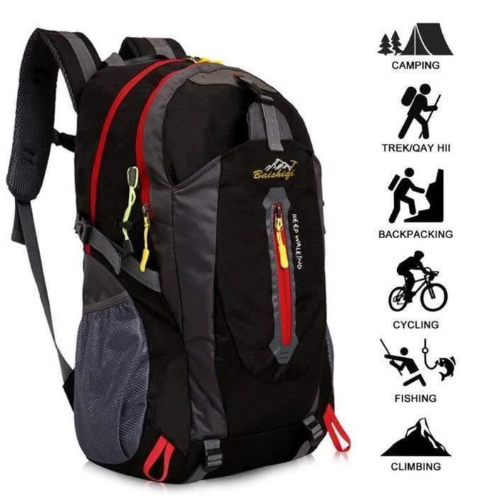 40L Sac A Dos Randonnée Léger , Respirant Ultraléger Imperméable ,Sac A Dos Pour Camping ,Alpinisme ,Trekking