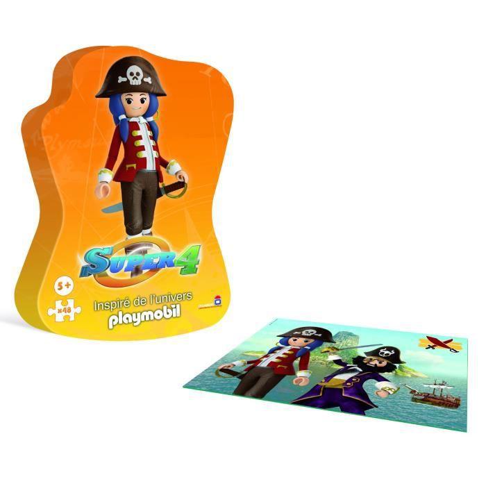 DUJARDIN Super 4 Playmobil Puzzle Pirate
