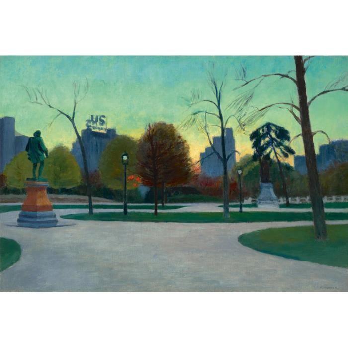 Poster Affiche Central Park Edward Hopper Peinture Realisme Amerique 91cm x 134cm